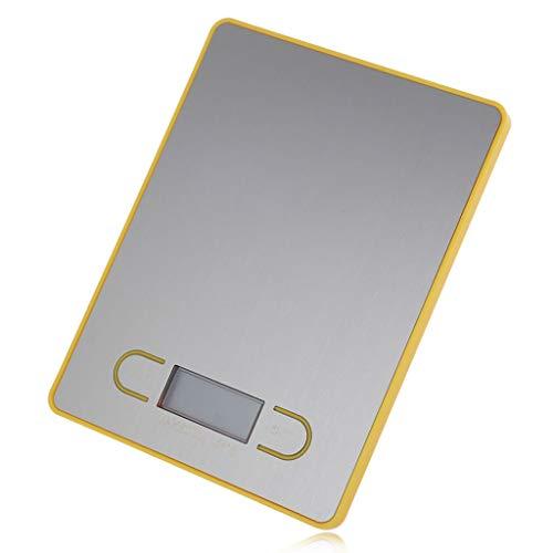 WCX Digitale Küchenwaage, 5000g X 1g Briefwaage, Digitalwaage Professionelle Waage, Electronische Waage, Küchenwaage, Tara-Funktion, LCD-Display (Farbe : Gelb, größe : 3kg/1g)