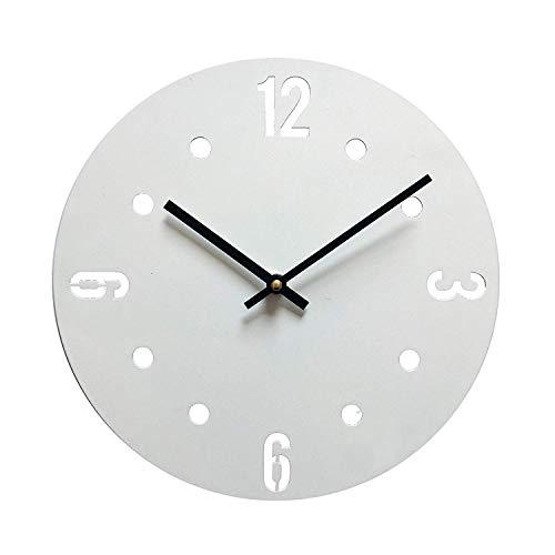 Mobili Rebecca Horloge de Mur Pendules Modernes Métal Ronde Décor Maison Bureau (Cod. RE6143)