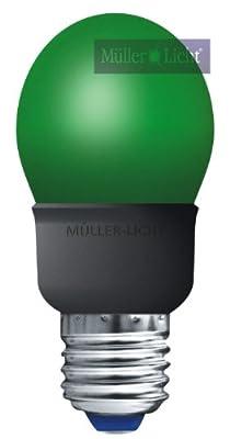 Energiesparlampe 5W grün E27 Tropfenlampe = Licht wie 25W Glühbirne