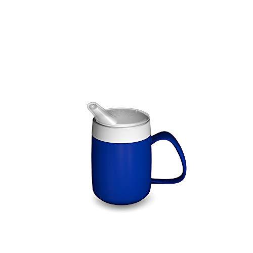 Ornamin 207 / 806 Becher mit Trink-Trick 200 ml (blau) mit Schnabelaufsatz