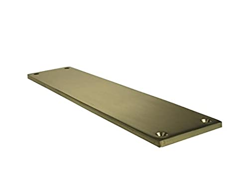 Polished Brass Victorian Finger Plate, 285Mm x 70Mm