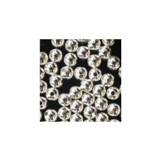 Well-Goal 100 Sterling Silver Seamless Round Beads 3mm (Qty=100)