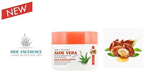 Aloe Vera und Arganöl Creme   Kanarische Inseln Aloe Vera   Tief hydriert Haut   300ml (Excellence Creme)
