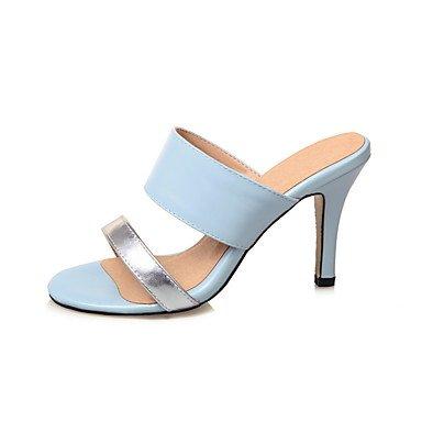 LvYuan Da donna Sandali Finta pelle Estate Più materiali Blu Rosa Tessuto almond 7,5 - 9,5 cm blushing pink