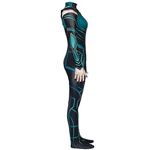 Göttin Männliche Kostüm - Göttin Des Todes Hela Cosplay Kostüm Dame Kostüm Halloween Show Jumpsuit Film Party Kleidung Requisiten Anime Kostüm