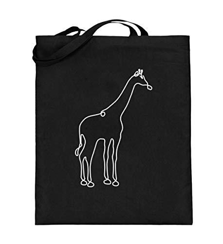 Chorchester Giraffe für Fans von Afrika und Giraffen - Jutebeutel (mit langen Henkeln) (Giraffe Mit Langem Hals Kostüm)