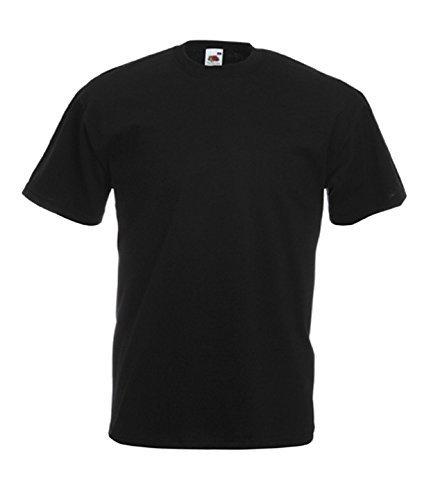 Fruit of the Loom Herren T-Shirt im 5er Pack Größe 4XL Farbe Schwarz - Obey Schwarzes T-shirt