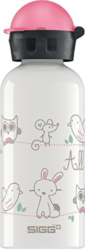 SIGG All My Friends, Kinder Trinkflasche, 0.4 L, Auslaufsicher, BPA Frei, Aluminium, Weiss