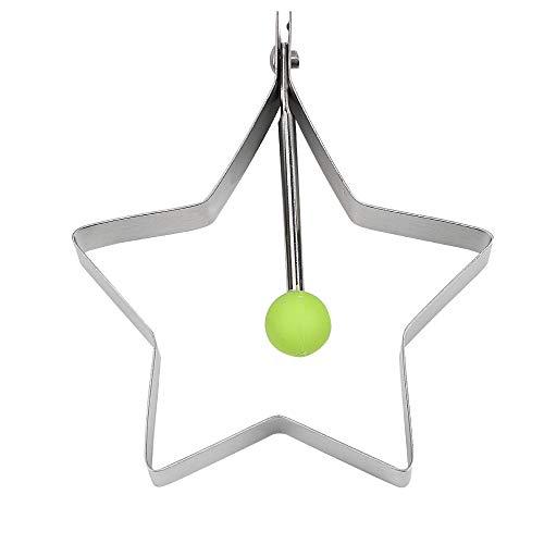 Edelstahl Love Flower Runde Sternform Küche Kochen Werkzeug Spiegelei Ei Pfannkuchen Ring Form star (Star Pfannkuchen Formen)