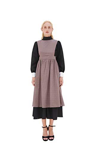 Kostüm Damen Dienstmädchen Outfit Viktorianischen - NSPSTT Damen Viktorianisch Dienstmädchen Kostüm Retro Diener-Outfit Fancy für Cosplay