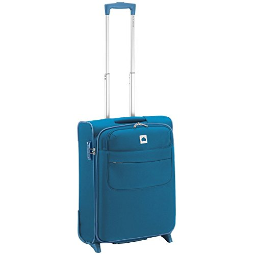 Trolley Da Cabina Ryan Air Delsey Blu Pavone 53 cm 2 Ruote Linea Light N'pack