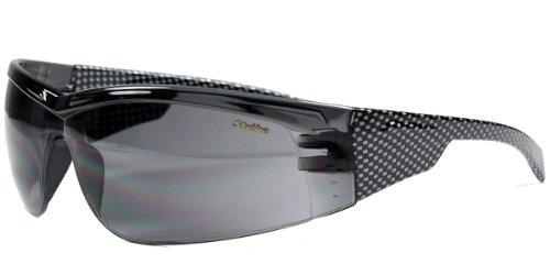 Strike Sportbrille / Sonnenbrille / Radbrille 195 schwarz, Carbon Style