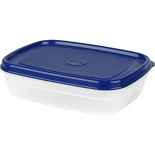 Emsa Frischhaltedose SUPERLINE, 1,0 Liter, rechteckig, blau, Plastik, 1 L