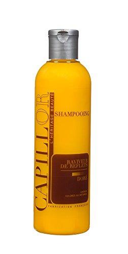 Shampoing colorant Doré pour cheveux blonds - Shampoing professionnel sans silicone avec coloration temporaire