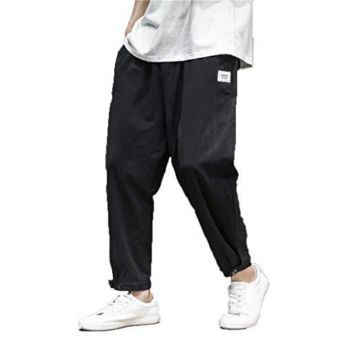 Pantaloni Uomo Estivi Leggeri Taglie Forti,Momoxi Pantaloni A Matita da Lavoro per UomoPantalone da Uomo Modello Cargo con Tasche Laterali 100% Cotone Stretch Garmnet Dyed - Tinta Unita Regular Fit
