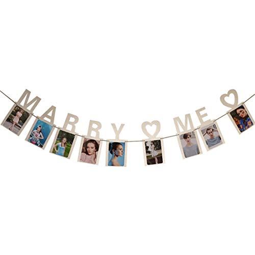 Happy event Marry Me Décoration murale pour mariage argent argenté