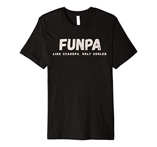 Mens FUNPA Tshirt Funpa Like Grandpa Only Cooler Funny Papa Gift