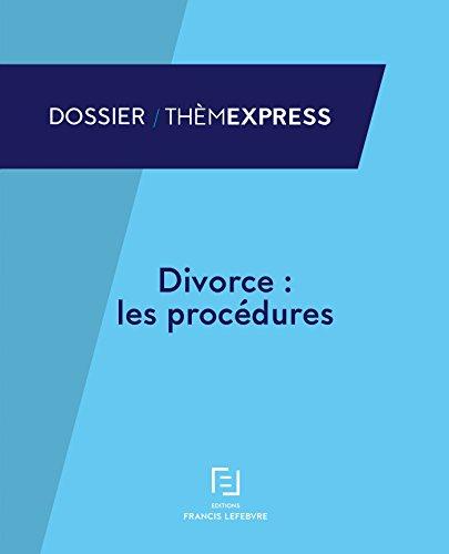 DIVORCE LES PROCEDURES