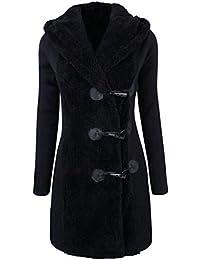 MEIbax Femmes Mode Hiver Plus épais Boutons Chaud Manteau Pardessus Parka  Hoodie Outwear Femme Blouson Matelassé 2c11ed829162