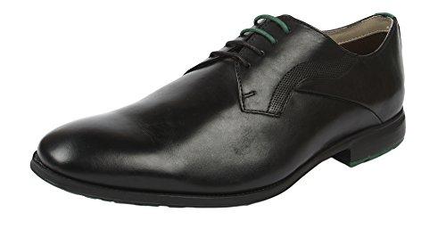 Clarks - Gleeson Walk, Stringate da uomo Nero (Nero (Black Leather))