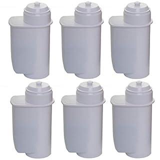 Aqua Crest AQK-01 Compatible Water Filters to fit Brita Intenza 00575491, 575491, 1010120, TZ7003, TCZ7003, 00575591, 00467873 Coffee Maker (6)