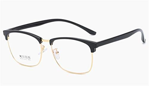 Alittle Männer und Frauen Retro Face Glasses Big Box Flacher Spiegel Clear Lens Frame Glasses