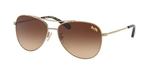 Coach - Damen, Hc7079 58 L1013 Sonnenbrille, 58 mm Damen, Braun (Light Gold/Brown Gradient), Einheitsgröße