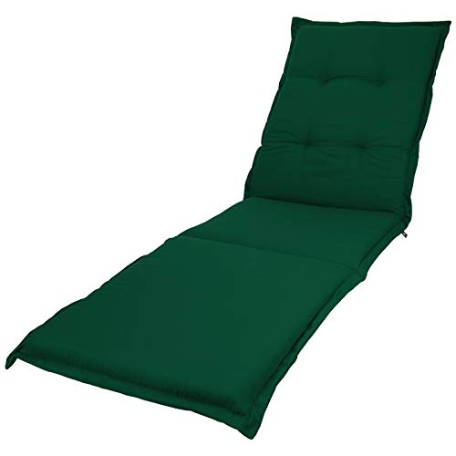 KOPU® Auflage Gartenliege Prisma Forest Green | Liegenauflagen für Gartenmöbel | Grün Liegen Kissen 195 x 60 cm | 19 einfache Farben | Robuster Schaumstoff für zusätzlichen Komfort