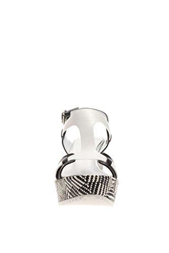Docksteps Femme Sandale fonds calage DSE103306 santal fond de calage Multicolore - noir/blanc