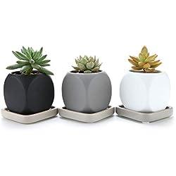 t4u 63cm ceramica moderno dado design succulento vasocactus vasi di fiori contenitore porta