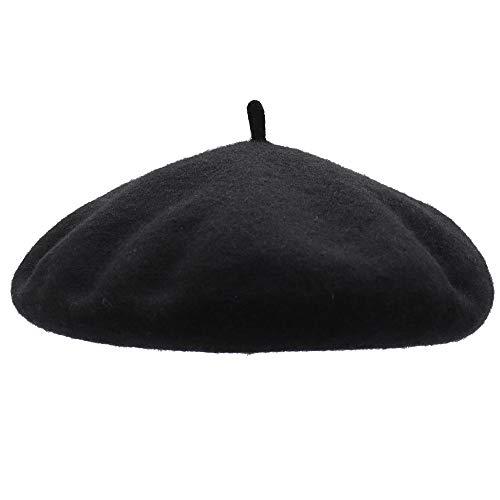 Französischen Baskenmütze, Schwarz ()