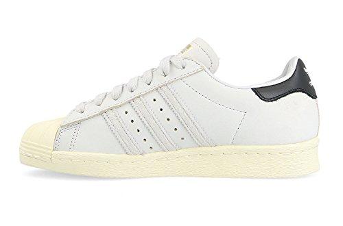 adidas Superstar 80s W, Chaussures de Gymnastique Femme Blanc Cassé (Ftwr White/core Black/cream White)
