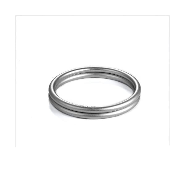 """Topind 3"""" Large Size Aluminium Baby Sling Rings for Baby Carriers & Slings of 2 pcs Silver TOPIND Great replacement aluminium rings for your baby sling rings Get a much more intimate way to touch your baby You can choose the color you like 4"""