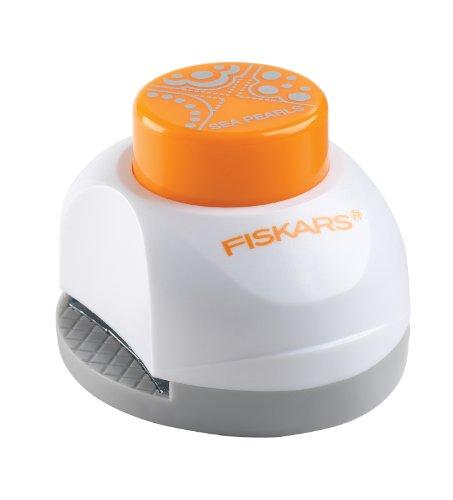 Fiskars 152250-1001 - Perforadora de papel para esquinas (3 en 1, 19mm), diseño de perlas