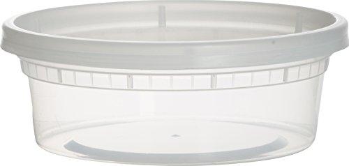 paksh Neuheit Kunststoff-Behälter für Mittagessen/klein Food Behälter mit Deckel, Auslaufsicher, Mikrowelle, Gefrierschrank und spülmaschinenfest, 8Unze, 40Stück (Restaurant Gefrierschrank-container)