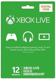 Microsoft Xbox Live Digitaler Code 12 Monate, Gold (Gold Live Xbox)