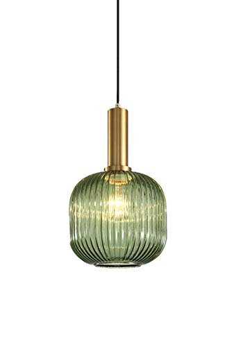 Hängelampe Vintage Pendelleuchte Glas Nachttischlampe Kronleuchter Moderne Höheverstellbar E27 Glühbirne für Wohnzimmer Küche Schlafzimmer Esszimmer Restaurant Cafe Bar Flur Lampe usw. Ø20CM×30CM - Glühbirne Aus Glas Anhänger