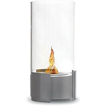 Foyer rond twister - inox brossé , cheminée éthanol (poele bio, a poser au sol,mobile,nomade,de table,mini poele bio)