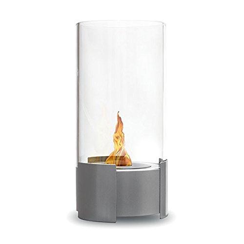 Preisvergleich Produktbild Feuerstelle rund Twister – Edelstahl gebürstet,  Kamin Ethanol (Bratpfanne Bio,  hat den Boden,  Mobile,  Nomade,  Tisch-,  Mini Bratpfanne Bio)