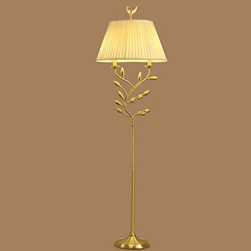 Baiyun Flyin Europäischen Stil Einfache Kunst Stehleuchte Luxuriöse Wohnzimmer Lichter Voller Kupfer Lampe Kreative Schlafzimmer Nacht Stehleuchte E27 Led (50X172 cm) - Kupfer-nacht-lichter