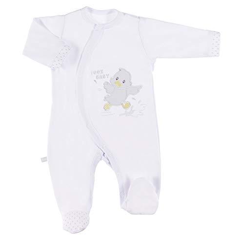 Gelbes Langarm-strampelanzug (Ewa Klucze Newborn Baby Strampler Overall Mädchen Jungen Jumpsuit Säugling Langarm-Bodysuits 100% Baumwolle (56, Weiß))