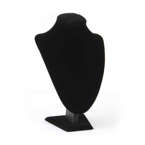 SODIAL(R) Expositor Exhibidor Busto madera Tela de Collar Negro