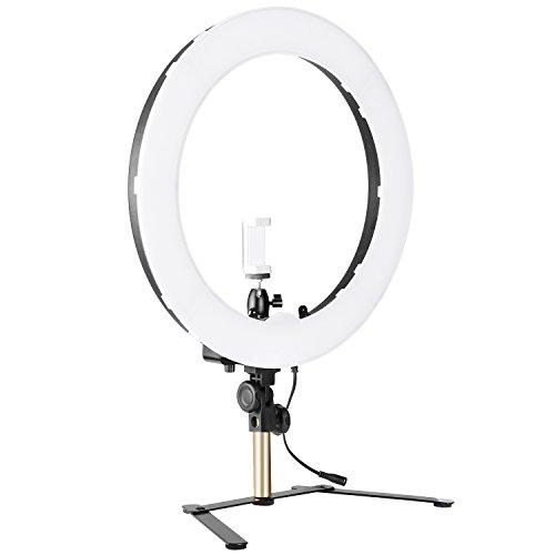Neewer Kamera Foto Studio YouTube Video Beleuchtung Ring Licht Set (Tisch Set)