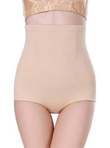Smile YKK Femme Cullote Haute Taille Panty Montre Fesse Sculptante Slimmer Abricot