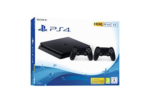 PS4 Slim 1 To F avec 2ème Manette Noir
