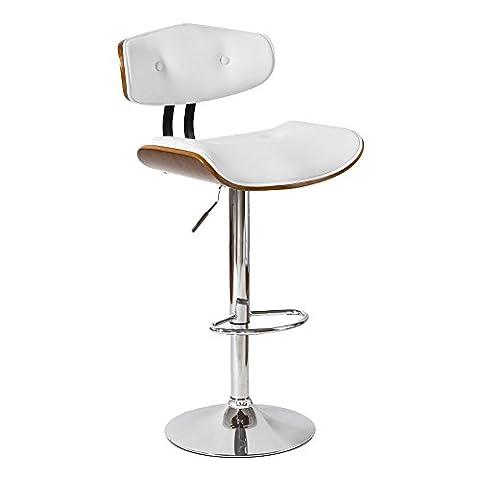 SoBuy® FST21-W, Modern Design Bentwood Padded Bar Stool, Restaurant Kitchen