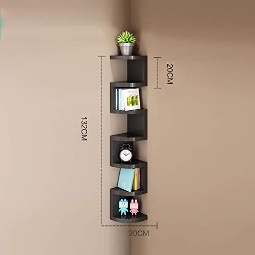Schwimmende Ecke Regal (MXK 7 Tier Wand Ecke Schwimmende Regal Zickzack-Design-Einheit Regale Bücherregal Lagerung Display Organizer - Home Decor Wanddekoration)