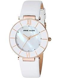 95275cf7996d Anne Klein - Reloj de Pulsera con Correa de Piel acentuada y Cristales  Swarovski para Mujer