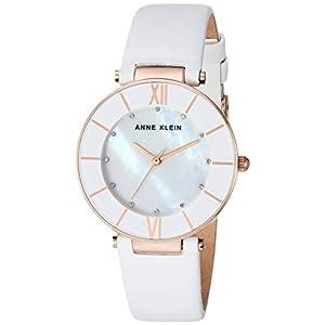 Anne Klein AK/3272 Reloj de pulsera de cuero con cristales Swarovski para