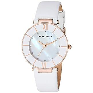 Anne Klein – Reloj de Pulsera con Correa de Piel acentuada y Cristales Swarovski para Mujer